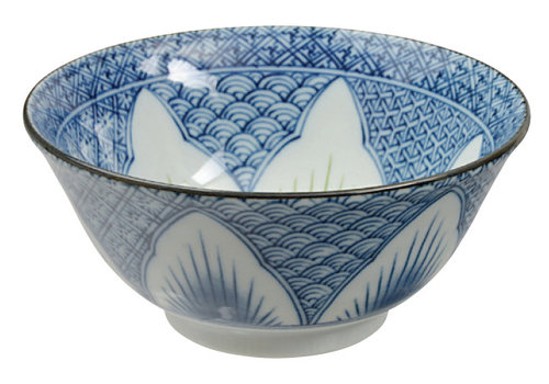 Fine Asianliving Japanese Tableware Mixed Bowls Bowls Blue Flower Porcelain 15.5 x 7cm