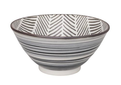 Fine Asianliving Herringbone Bowl 13x6.3 cm White