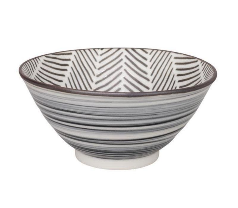 Herringbone Bowl 13x6.3 cm White