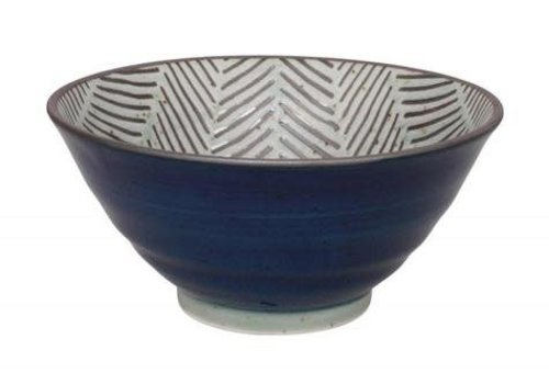 Fine Asianliving Herringbone Bowl 13x6.3 cm Blue
