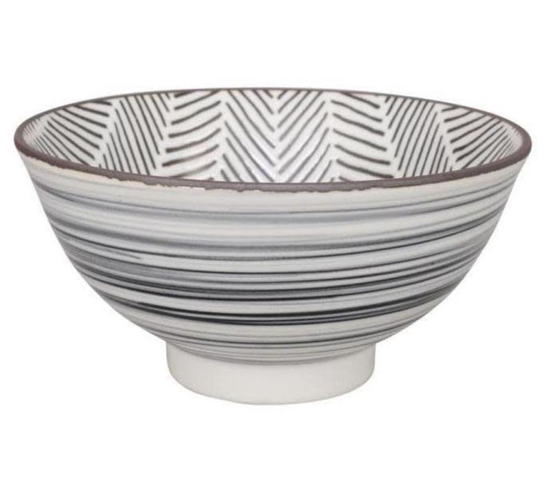 Herringbone Bowl 16x8 cm White