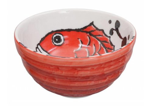 Fine Asianliving Tokyo Design Studio Japanese Bowl Karper Red 13.2 x 6.8 cm