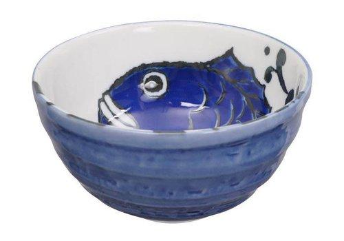Fine Asianliving Tokyo Design Studio - Japanese Bowl Carp Blue 13.2 x 6.8cm
