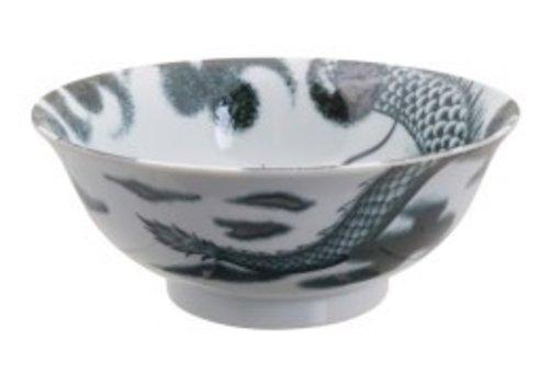 Fine Asianliving Dragon Large Bowl 21x8.3cm Black