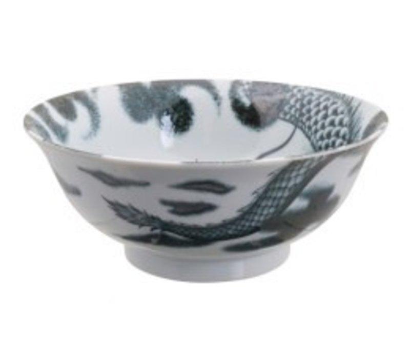 Dragon Large Bowl 21x8.3cm Black