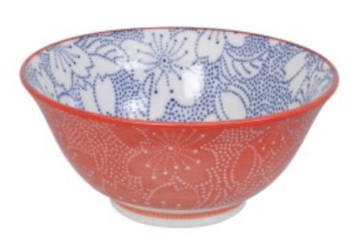 Fine Asianliving Mixed Bowls Dot Sakura 14.8x6.8cm Blue/Red