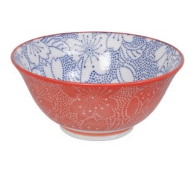 Mixed Bowls Dot Sakura 14.8x6.8cm Blue/Red