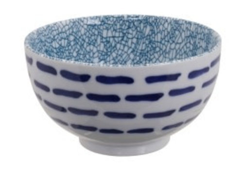 Fine Asianliving Mixed Bowls Okonomi Bowl Line with Green Crackle 13.2x7.4cm