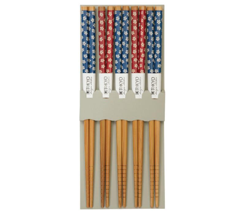 Japanse Chopsticks Set/5 - Bloemen