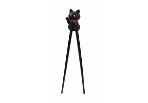 Fine Asianliving Children Chopsticks Lucky Cat 22cm Black