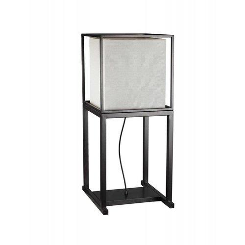Fine Asianliving Oriental Floor Lamp Metal Black and White