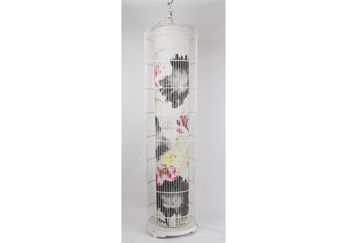 Fine Asianliving Chinese BirdCage Lamp Lotus