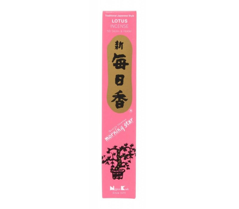 Morning Star Japanese Incense Lotus 50st