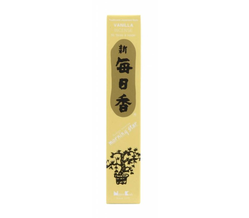 Morning Star Japanese Incense Vanilla 50pcs