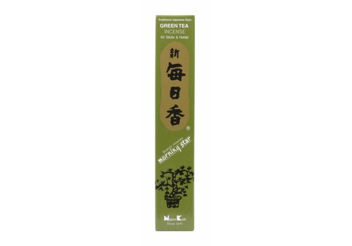 Fine Asianliving Morning Star Japanese Incense Green Tea 50 pcs