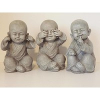 Young Monks See, Hear, Speak No Evil Set 3 /12 cm