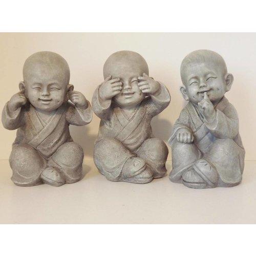 Young Monks See, Hear, Speak No Evil Set 3 /12 cm