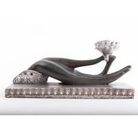 Waxinelichthouder Boeddha Hand