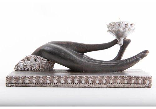 Fine Asianliving Kandelaar Waxinelichthouder Boeddha Hand