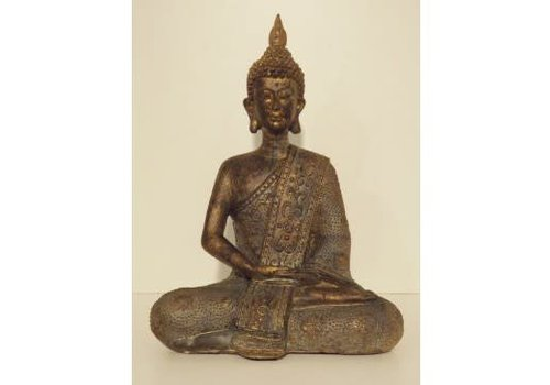 Fine Asianliving Thai Meditating Buddha Bronze 20cm