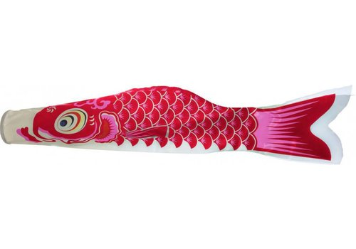 Fine Asianliving Japanese Koi Wind Red Koinobori 100cm