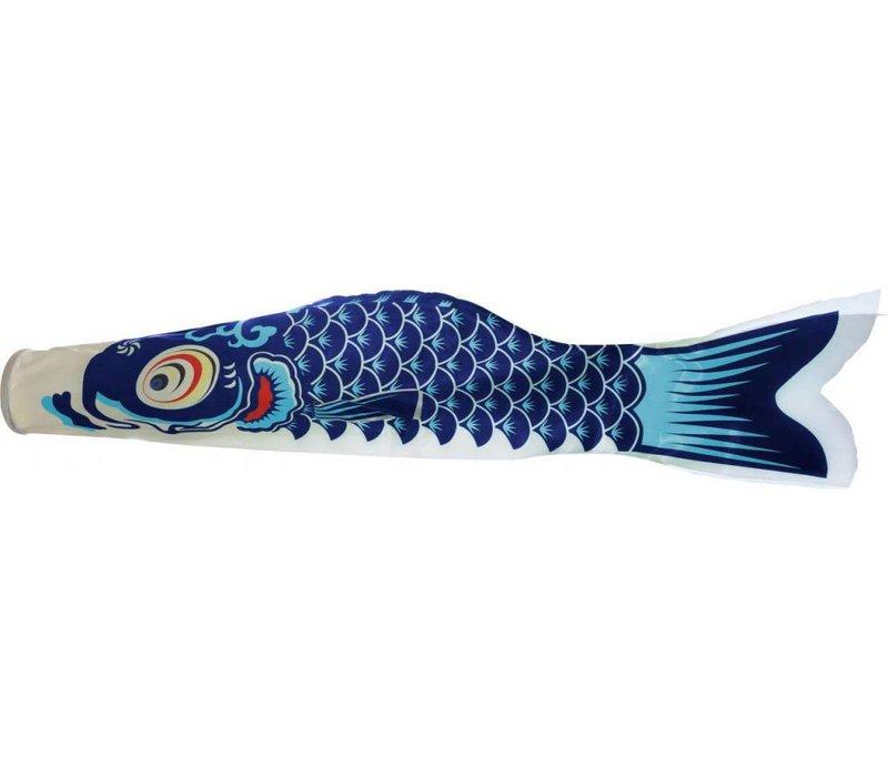 Japanse Wind Koi Blauw Koinobori 100cm