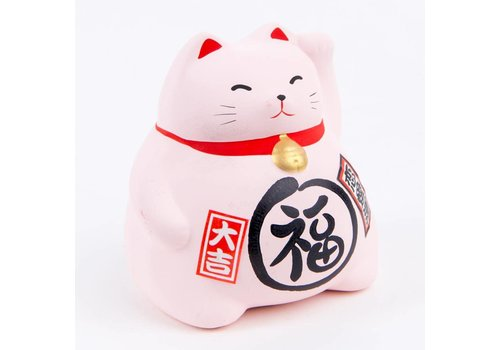 Fine Asianliving Lucky Cat Maneki Neko Pink - Love
