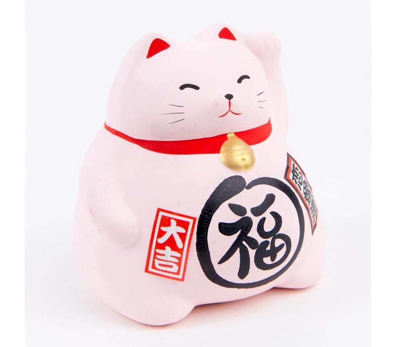 Lucky Cat Maneki Neko Roze - Love