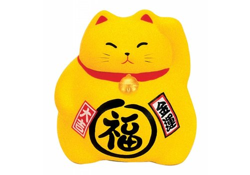 Fine Asianliving Japanse Lucky Cat Maneki Neko Geel - Money
