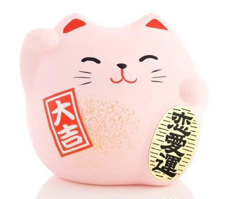 Lucky Cat Maneki Neko Small - Love