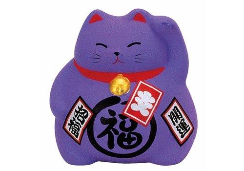 Fine Asianliving Lucky Cat Maneki Neko Paars - Luck