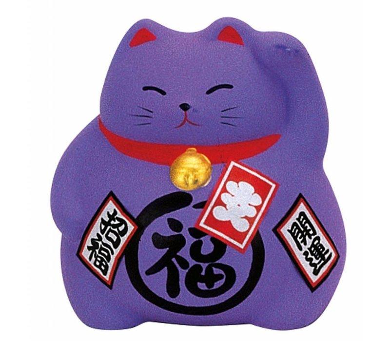 Lucky Cat Maneki Neko Paars - Luck
