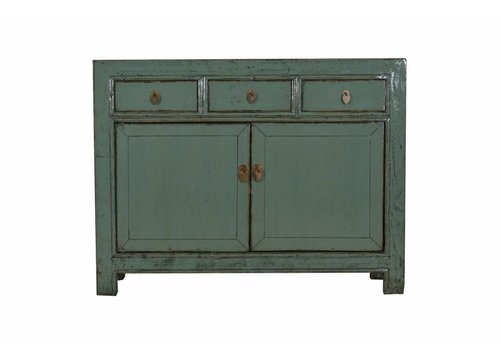 Fine Asianliving Chinese sideboard Glassy Mint Green (1918-1930)-Gansu, China