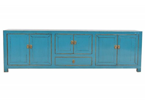 Fine Asianliving Chinese TV Kast Turquoise (1880-1910) - Beijing, China