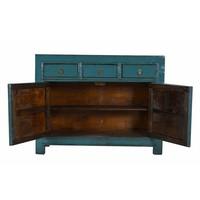 Antique Chinese sideboard White drawers Teal -Gansu, China