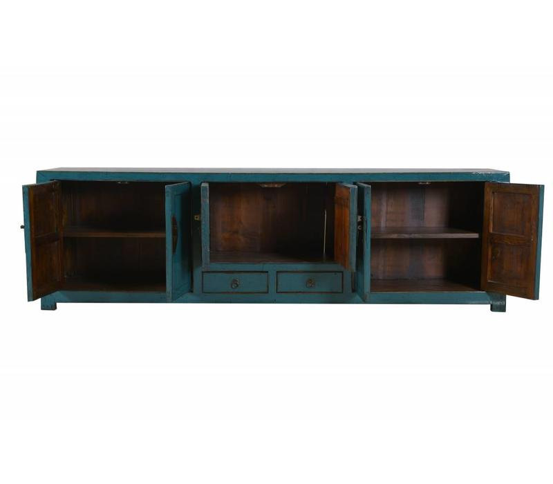 Chinese TV Kast Glassy Teal  (1900-1925) - Beijing, China