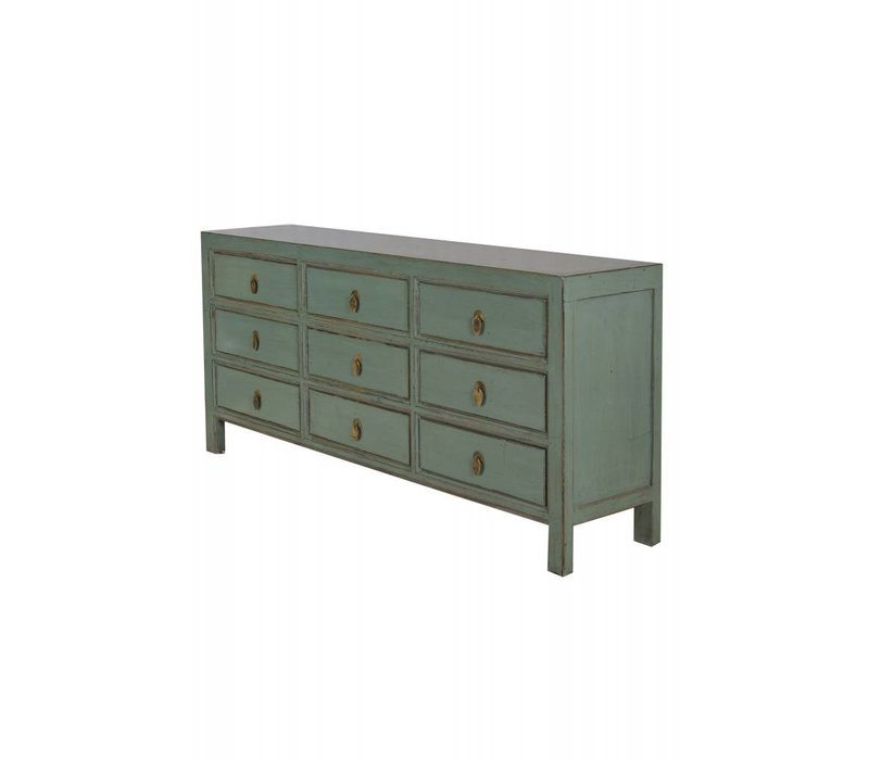 Chinesisches Sideboard Kommode 9 Schubladen Mint - Peking, China