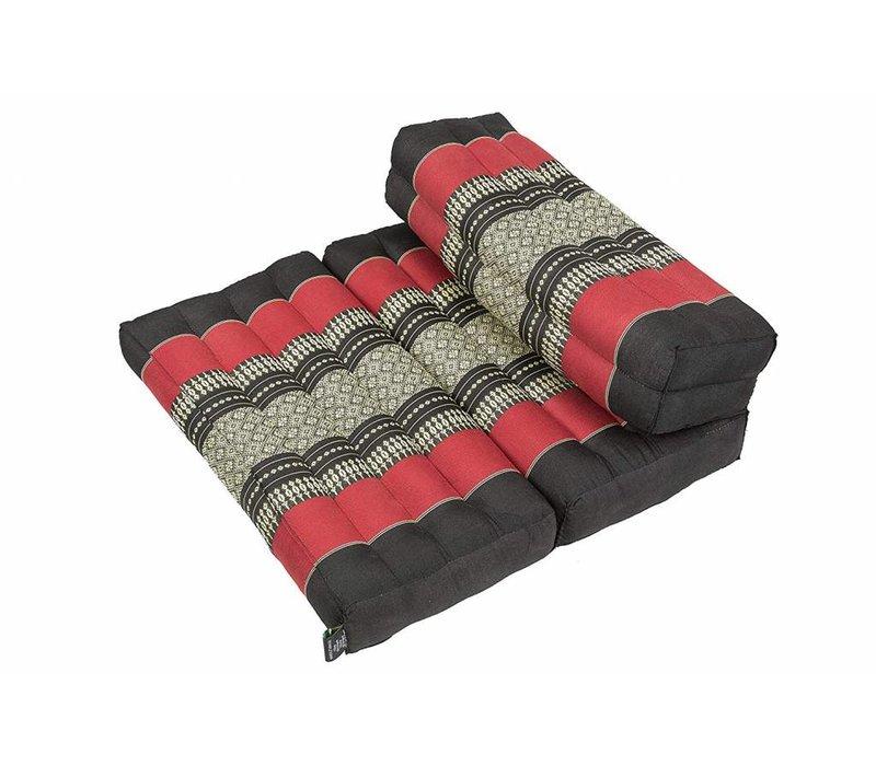 Fine Asianliving Thais Kussen Meditatie Mat Yoga Blok Uitklapbaar 50x75x12cm Kapok Rood