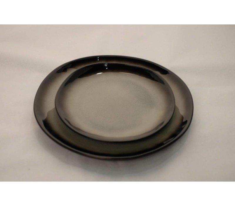 Kyoto Glassy Grey Plate various sizes