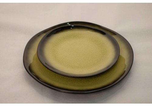 Fine Asianliving Kyoto Glassy Yellow Plate Assorted Sizes