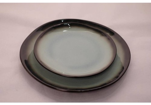Fine Asianliving Kyoto Glassy Turquoise Plate Assorted Sizes