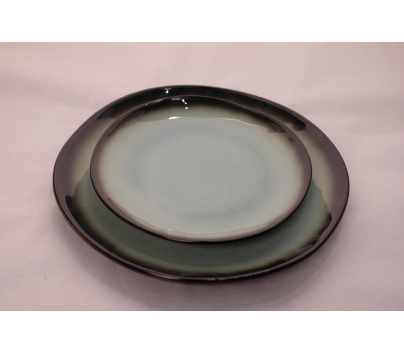 Kyoto Glassy Turquoise Plate Assorted Sizes