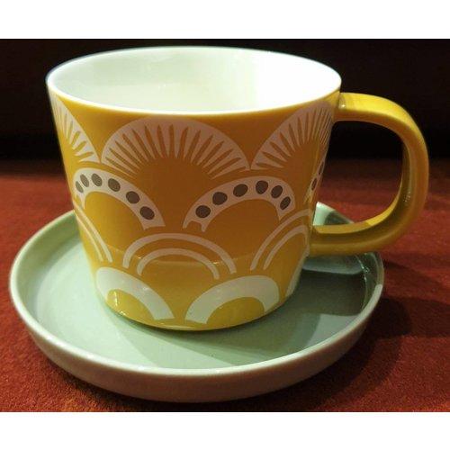 Japanese teacup White saucer