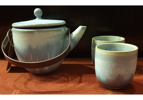Fine Asianliving Cloudy Blue Thee Set/3