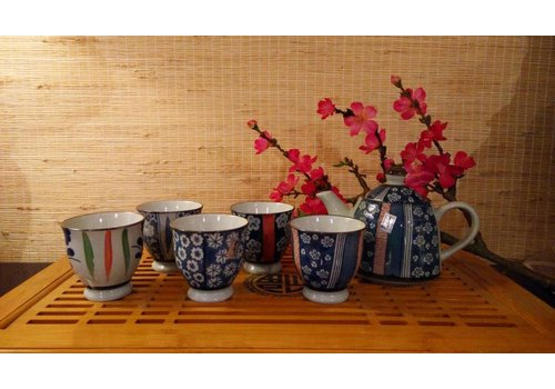 Fine Asianliving Chinese Porcelain Teaset Giftbox White 5 cups