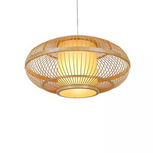 Ceiling Light Pendant Lighting Bamboo Lampshade Handmade - Clara