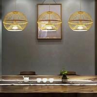 Fine Asianliving Lampara de techo Bambú Lampara Colgante Hecho a mano - Sisley