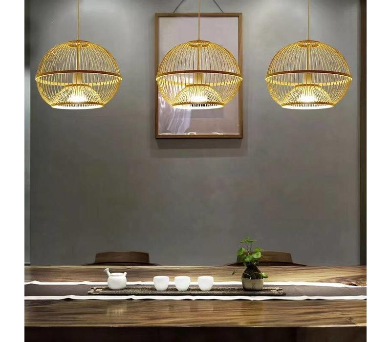 Fine Asianliving Ceiling Light Pendant Lighting Bamboo Lampshade Handmade - Sisley