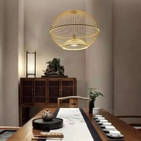 Ceiling Light Pendant Lighting Bamboo Lampshade Handmade - Sisley
