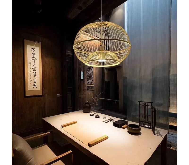 Fine Asianliving Plafoniera Lampada A Sospensione Bambù Paralume Fatto A Mano - Sisley
